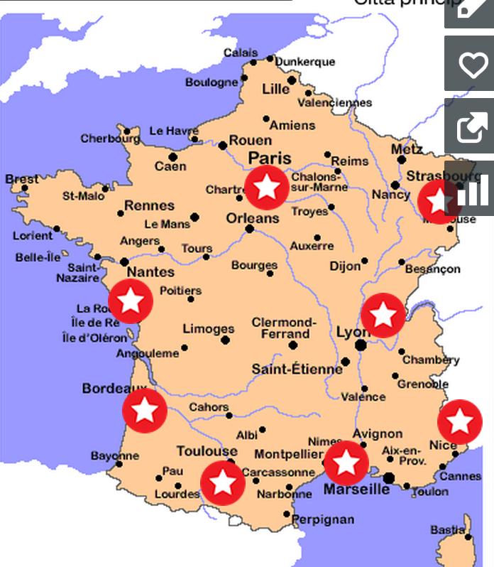 Cartina Francia Con Citta.Iia Tour Della Francia Arringo