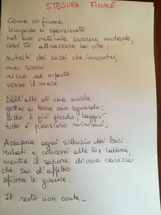 Poesia finale