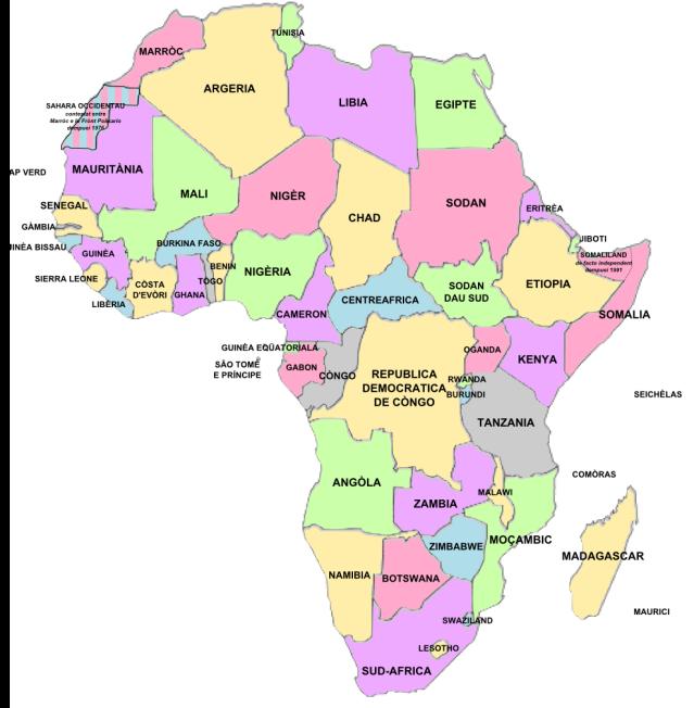 Carta politica Africa 2013